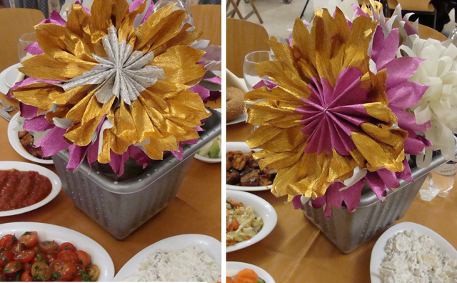 Folded Paper Flowers-Bar Mitzvah