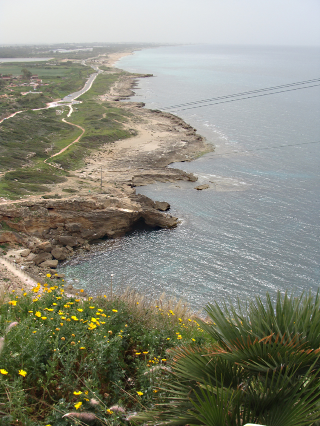 Rosh HaNikra looking down coast