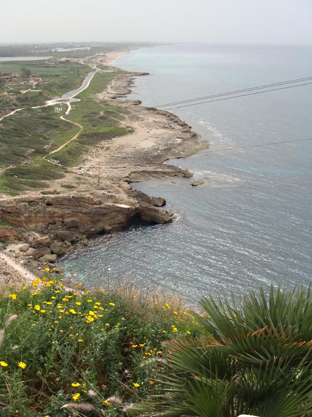 Rosh HaNikra looking down coast