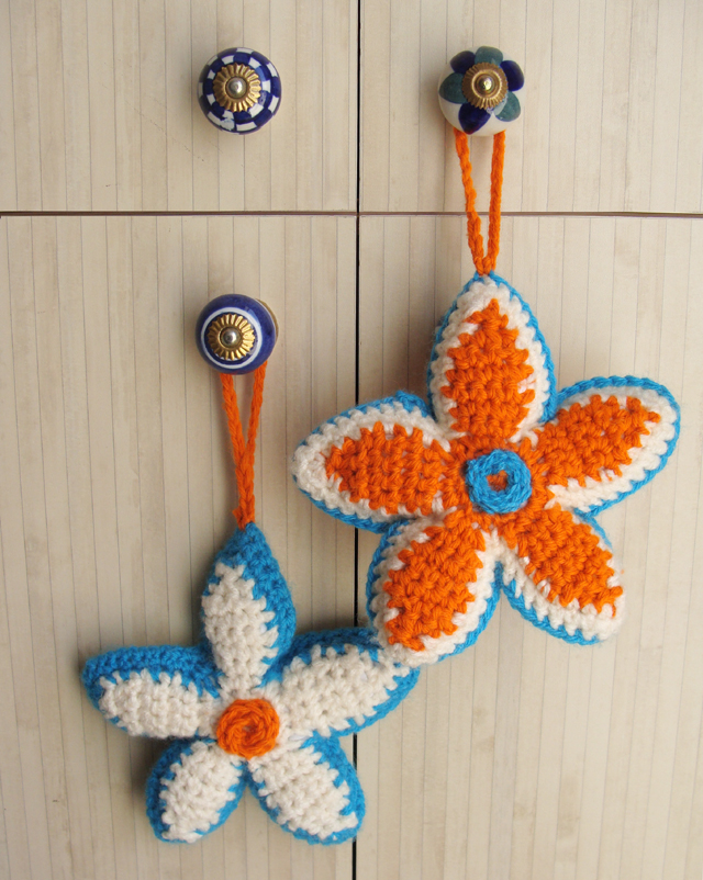 Crocheted flower Sachet