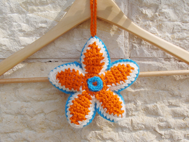 Crocheted Sachet on hanger