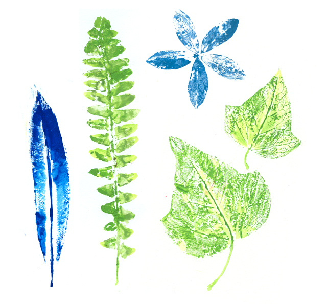 Printing With Leaves