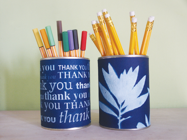 Sunprint Pencil Holders