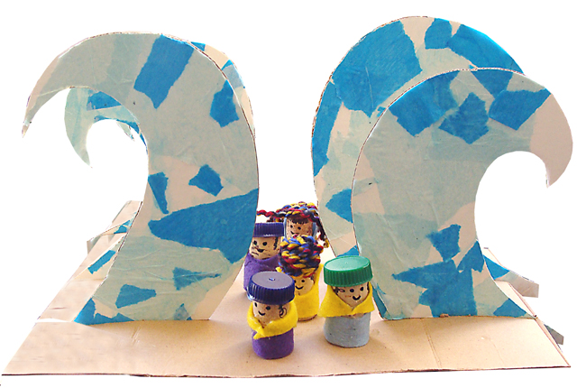 Pesach Yam Suf Kids Craft Silo