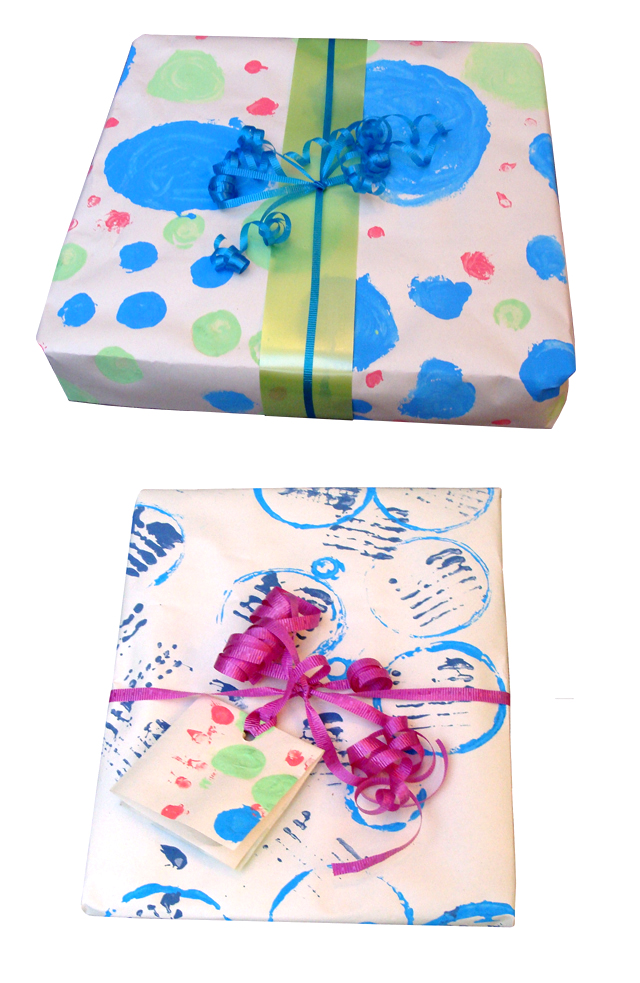 Homemade Wrapping Paper Kid Printed Wrapping Paper