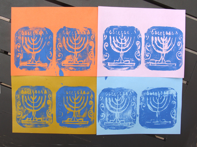 Chanukah Styrofoam Prints 2