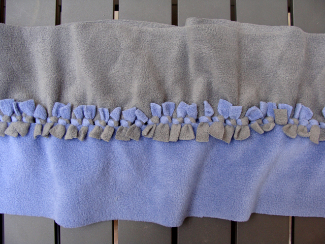 Fleece No-Sew Ruffled Scarf Closeup