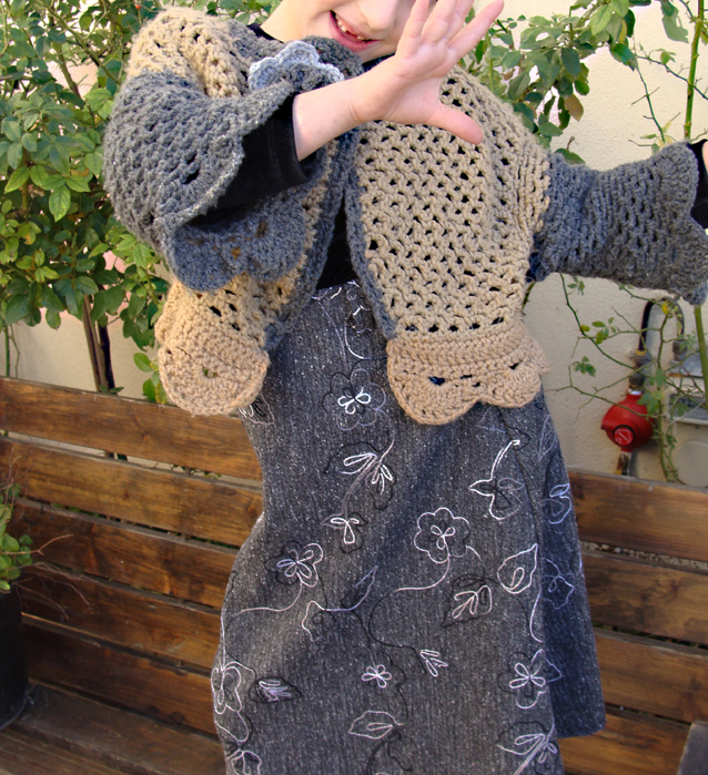 Crocheted Net Cardigan-Twist!