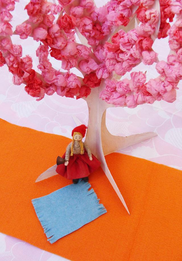 Tu B'Shevat Girl beneath tree