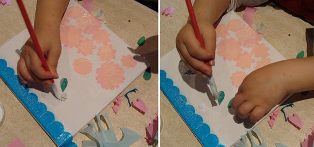 Tu B'Shevat Tissue Paper On Canvas