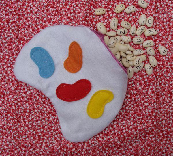 A Felt Bean Bag For Alphabeans Alphabet Game Creative