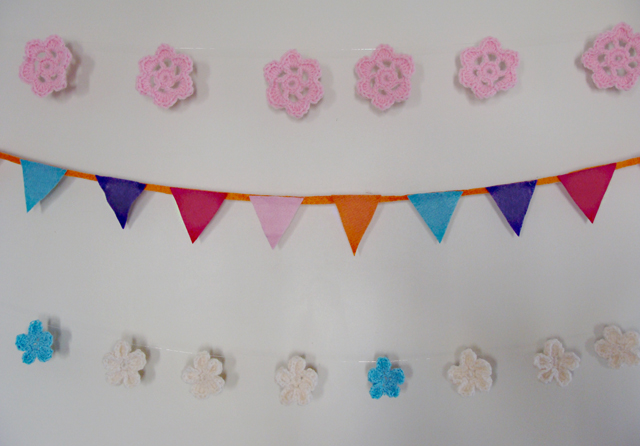 Crocheted Flower Bunting 3