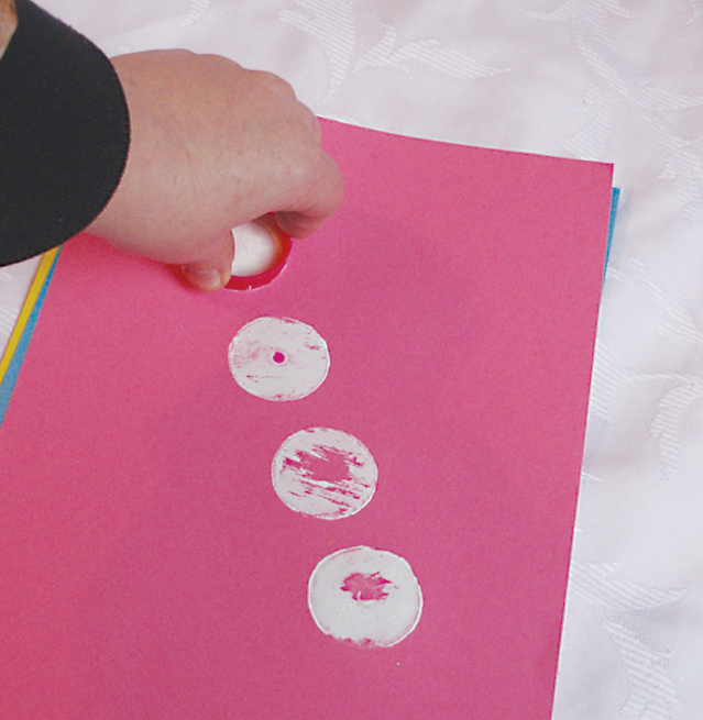Purim How to print polka dots
