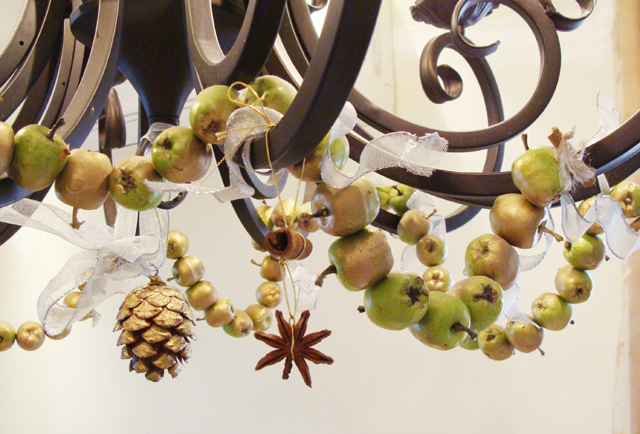 Tu B'Shevat Chandelier With Apples