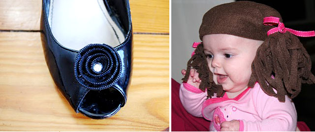 CSS Feb 11 zipper flower, fleece ponytail hat