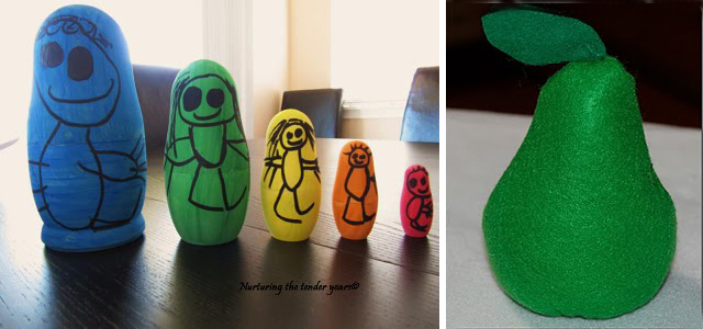 Nesting Dolls+Felt Pear