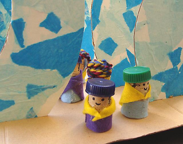 Passover Red Sea Art Kids Craft
