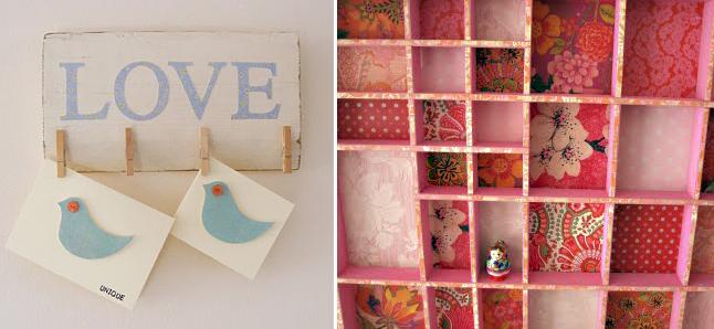 Love clips + divided shelves