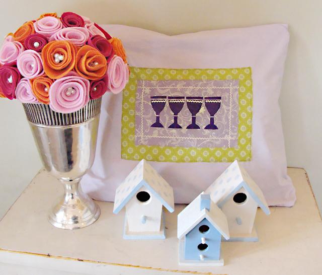 Pesach Four Cups Pillow