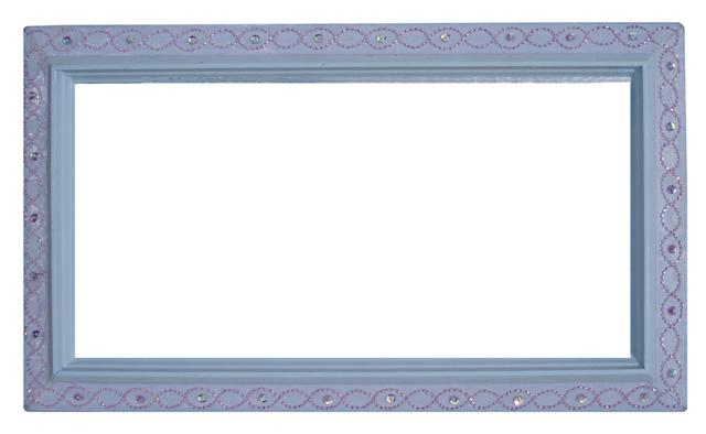 Spring frame vintage with ribbon