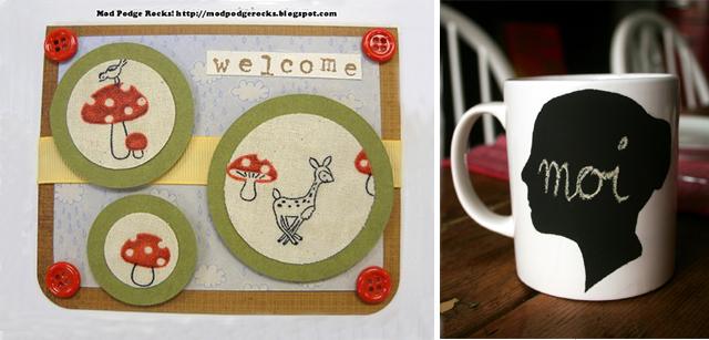 Chalkboard mug+modgepodge card