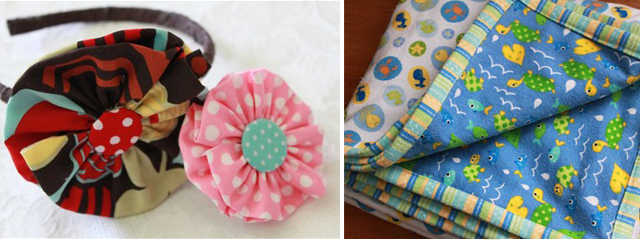 Flower headband+baby blanket