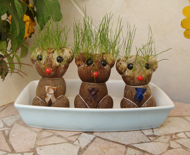 Grass Head Dolls