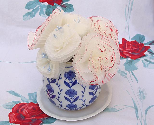 Cupcake Liner In Blue Vase