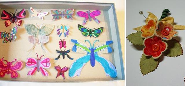 Kids Butterfly project + posies