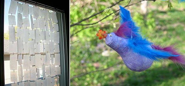 Milk container Screen + Light bulb Bird