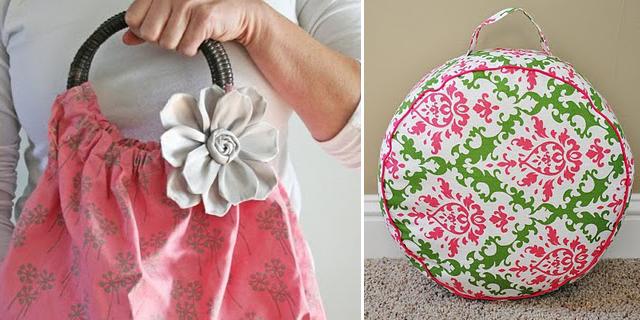 No sew flower + floor pillow