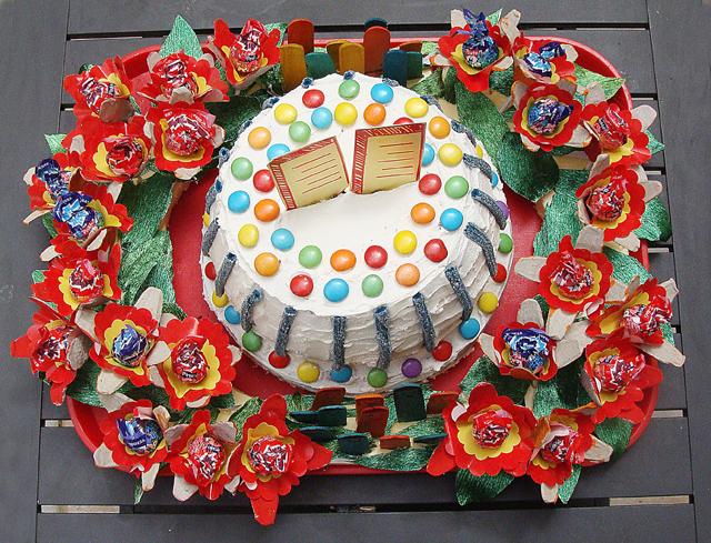 Shavuos Har sinai Cake top view