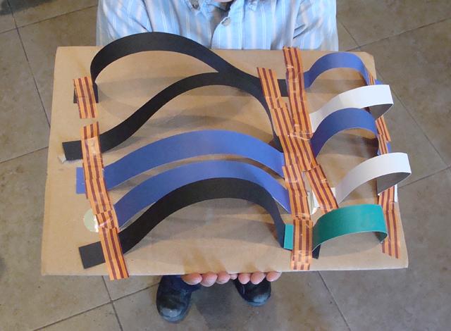 Paper Strips Kid's Sculpture Tunnels