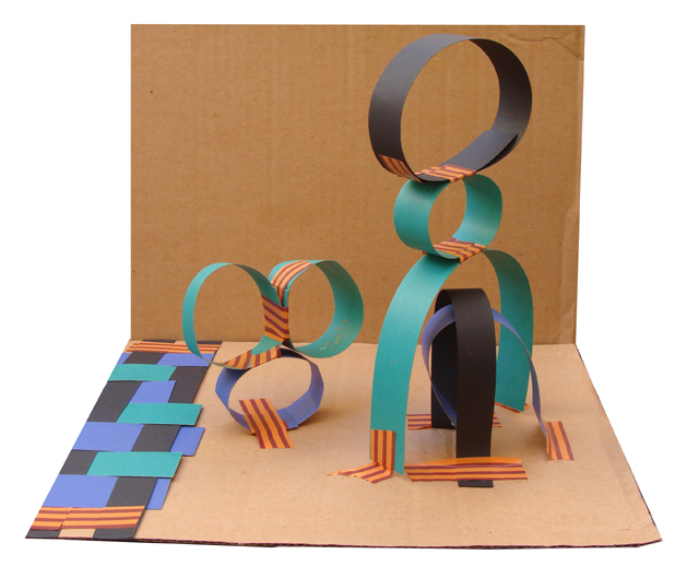 Paper Strips Kids Sculpture