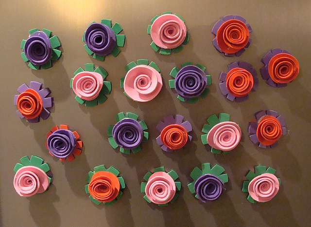 Rosebud craft foam magnets 2