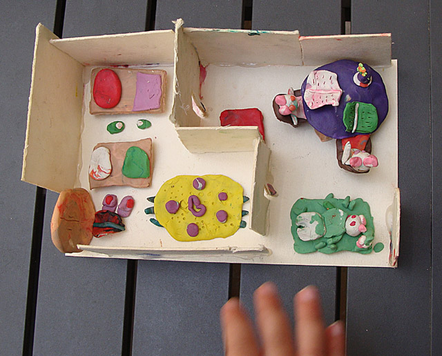 Modeling Clay Rabbit House with Hand