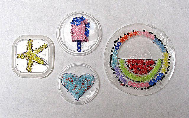 Bead Mosaics On Plastic More