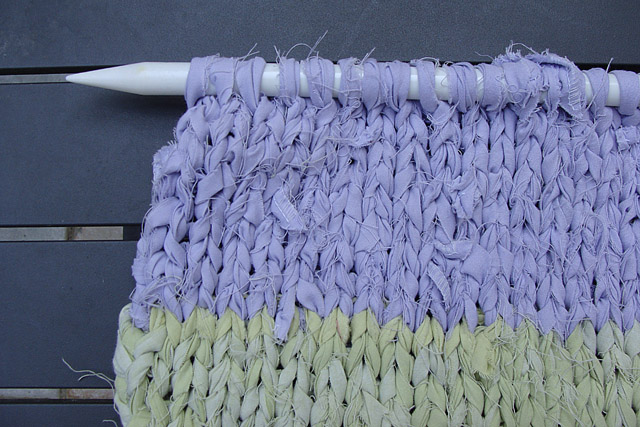Knitting With Sheets Close Up