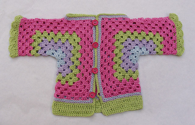 Crocheted Baby Surprise Hex Pink Granny