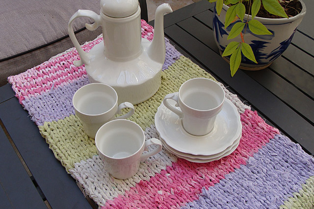 Knitting With Rags Table Runner