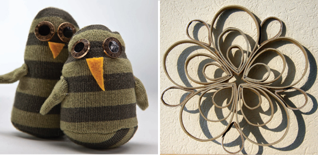 Sock Owls, Tube Art