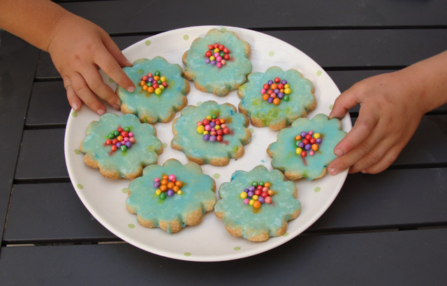 Birthday Poured Icing Cookies