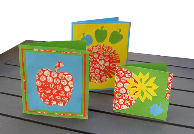 Rosh HaShana Cards With Bubble Wrap Printing