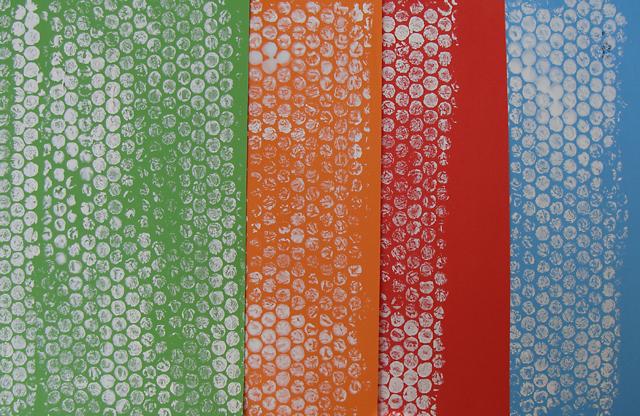 Rosh HaShana Bubble Wrap Printing