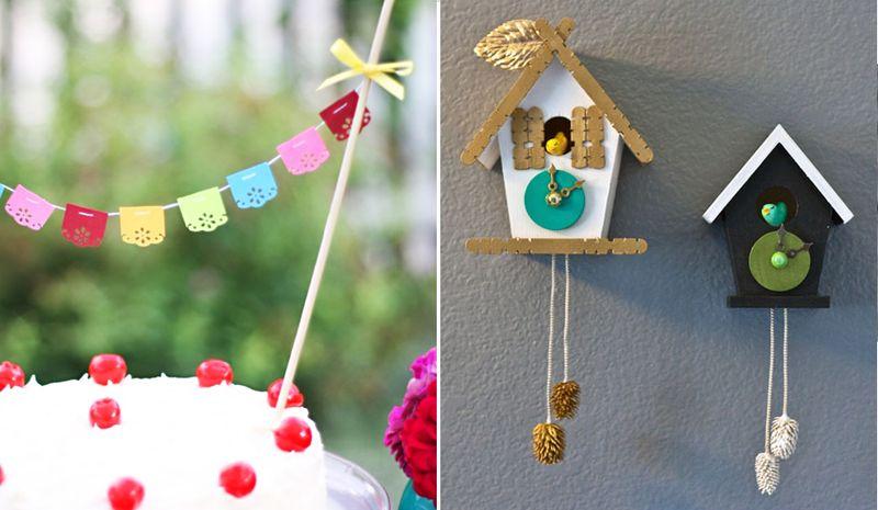 Cake bunting +cuckoo clock