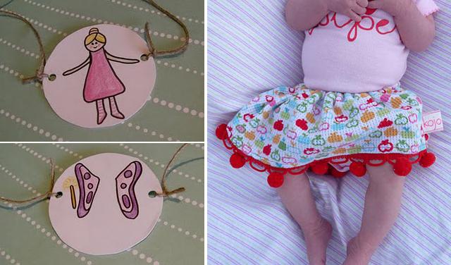 Magic fairy, newborn pompom skirt
