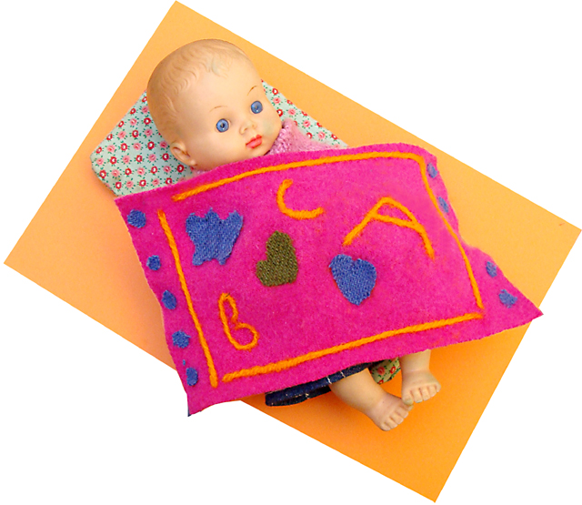 Needle Felting For Kids -Doll Blanket