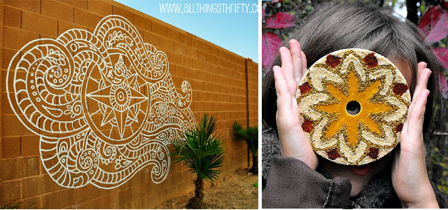 Retaining Wall Mural, CD spices mandala
