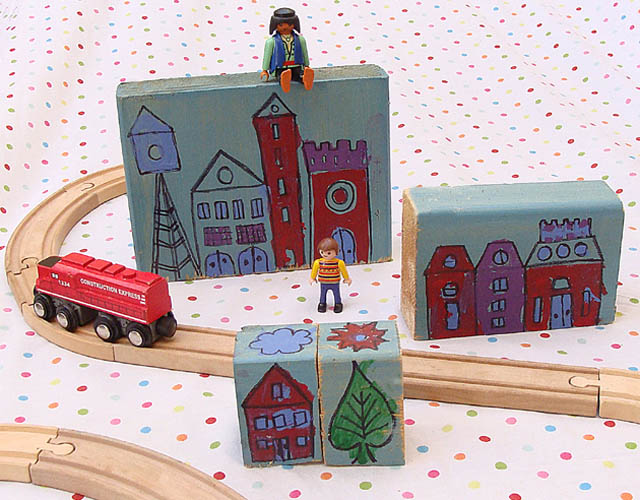 Kid's Wooden Cityscape Blocks