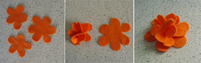 Felt flower With Petals Tutorial